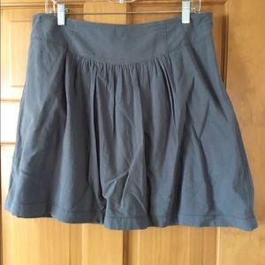 Ann Taylor Loft Gray Cotton Skirt